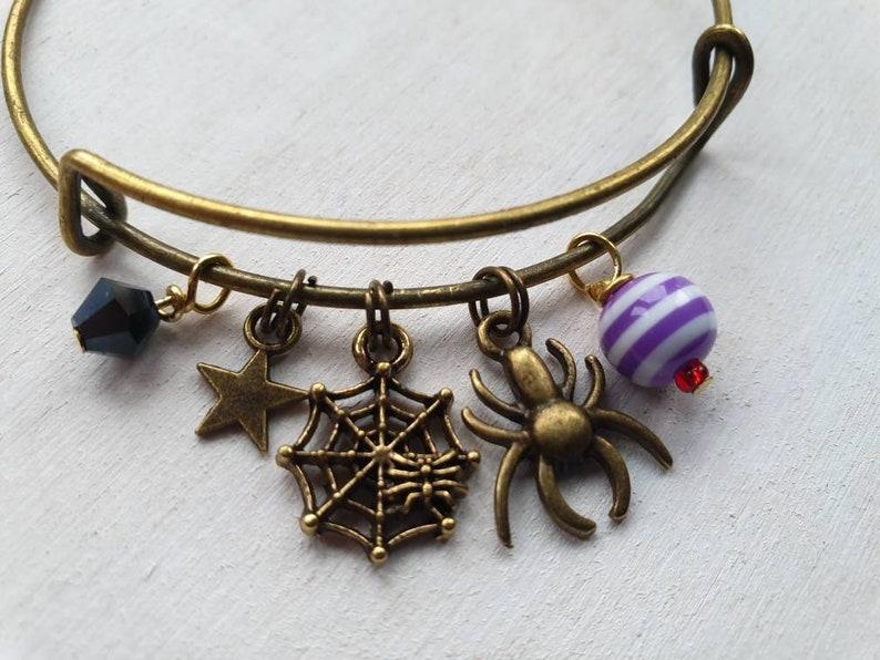 LullabyHalloween Spider Minimalist Charm Bracelet image 0