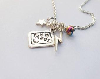 The Future's So Bright Tarot mini charm necklace