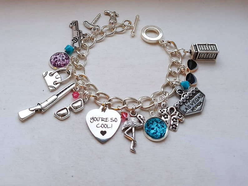 You're so cool Alabama Bracelet Charm bracelet with pink image 0