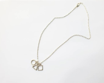 Geometric Symbol necklace inspired by Squid Game