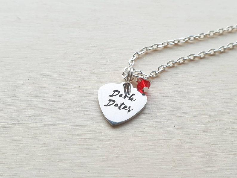 Dark Dates heart charm necklace image 0