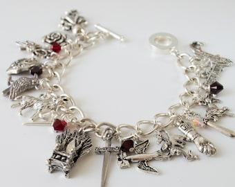 Winter is Coming bracelet  Game of Thrones inspired charm bracelet   GoT Jewellery