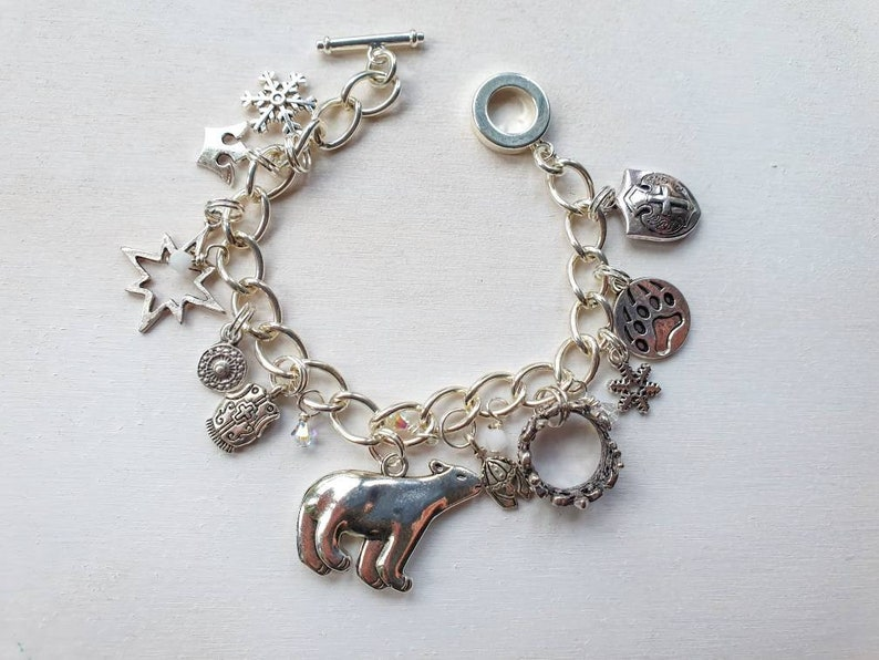 Iorek  Bracelet inspired by His Dark Materials Charm Bracelet image 0