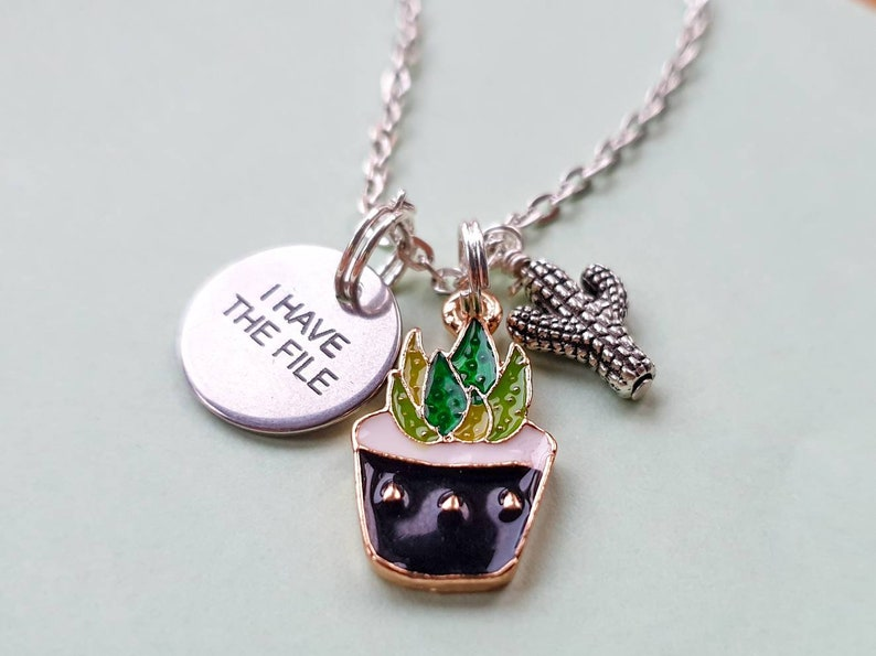 I have the file. Janet necklace  Charm necklace on 18 image 0