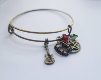 The Bronze wire charm bracelet inspired by Buffy the Vampire Slayer
