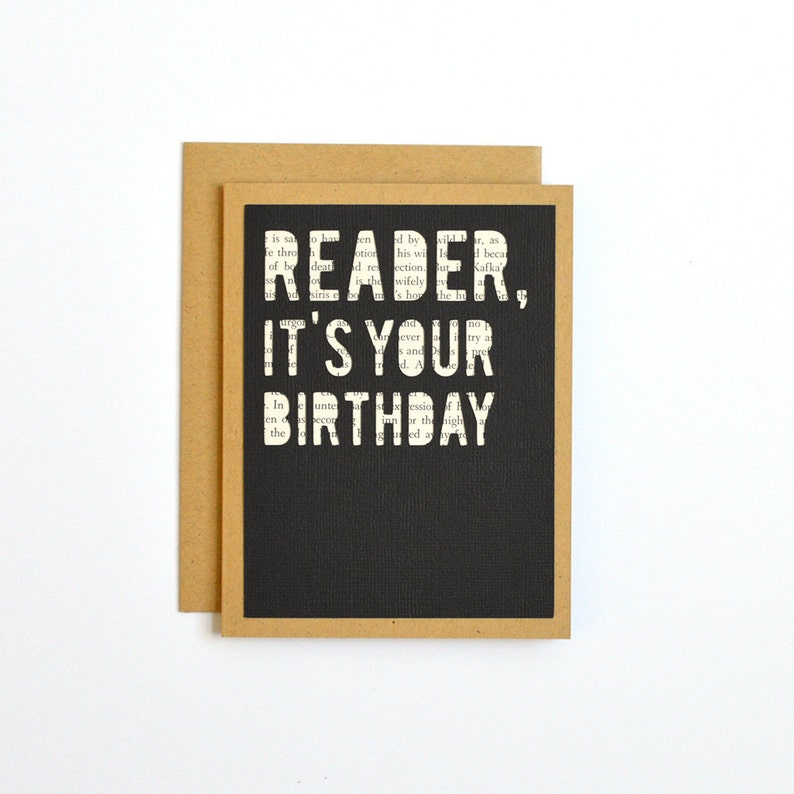 Book Lover Birthday Card Happy For Reader