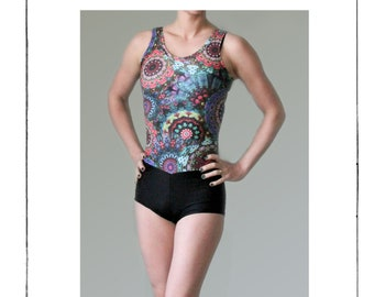 Dropwaist Tank Leotard with Shorts or Briefs PDF Sewing Pattern