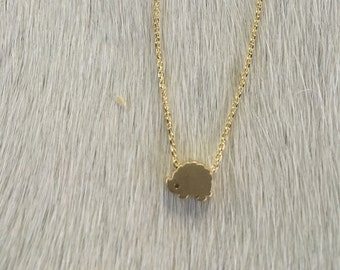 Mini Hedgehog Necklace // Gold or Silver