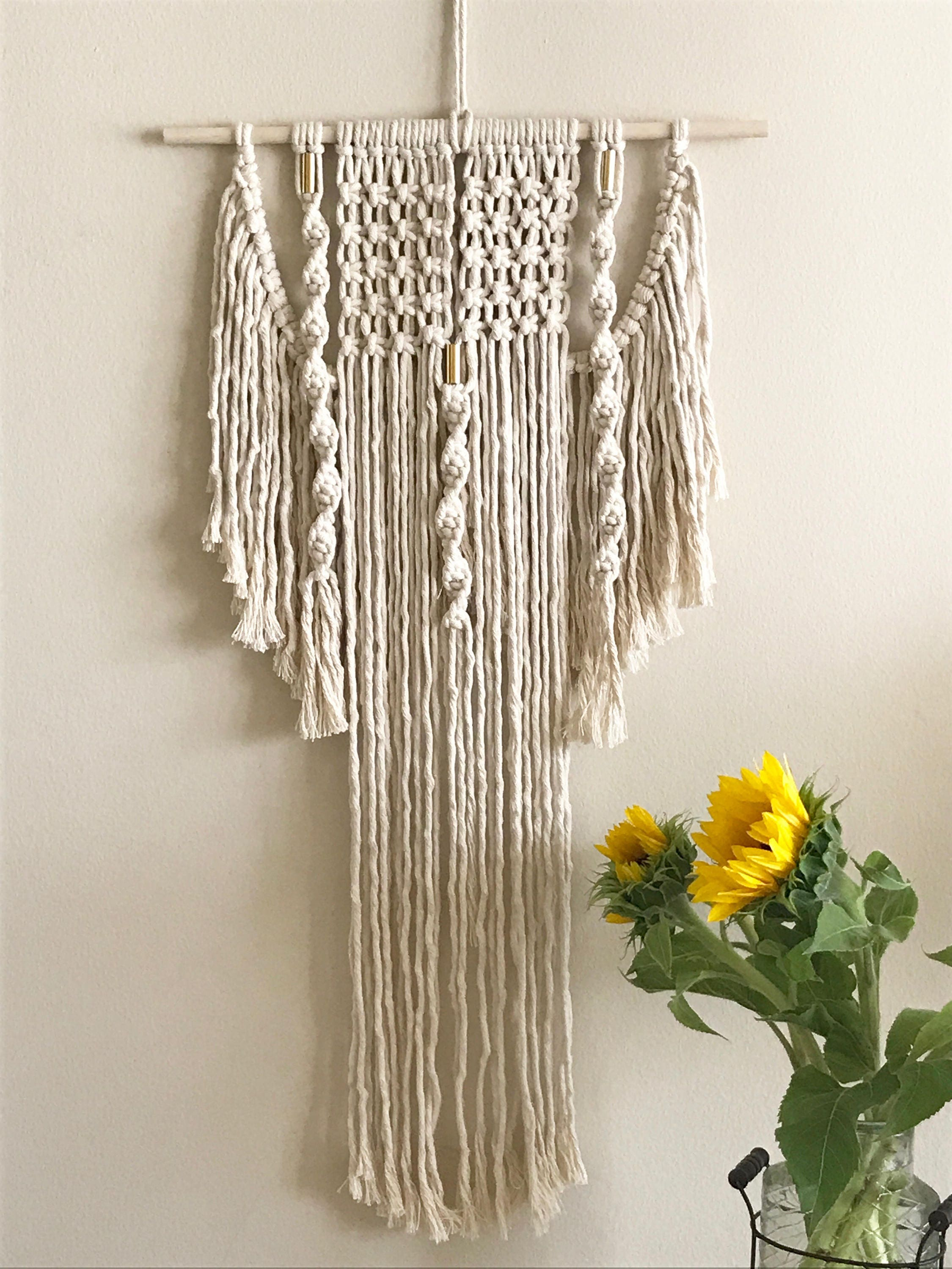 Medium Macrame Wall Hanging Modern Macrame Boho Home Decor