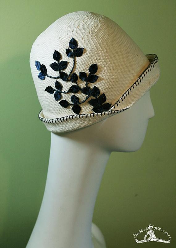 Women's Cloche - Downton Abbey - Derby - Spring - Summer - 1920s Style Vintage Inspired Cloche - Downton Abbey Inspired Cloche - OOAK