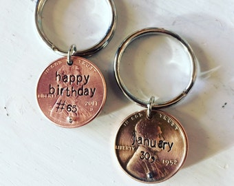 Custom Stamped Penny Keychain Stack