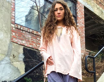 Hemp top custom made and hand dyed // organic clothing // eco-friendly // hemp clothing // boatneck tunic