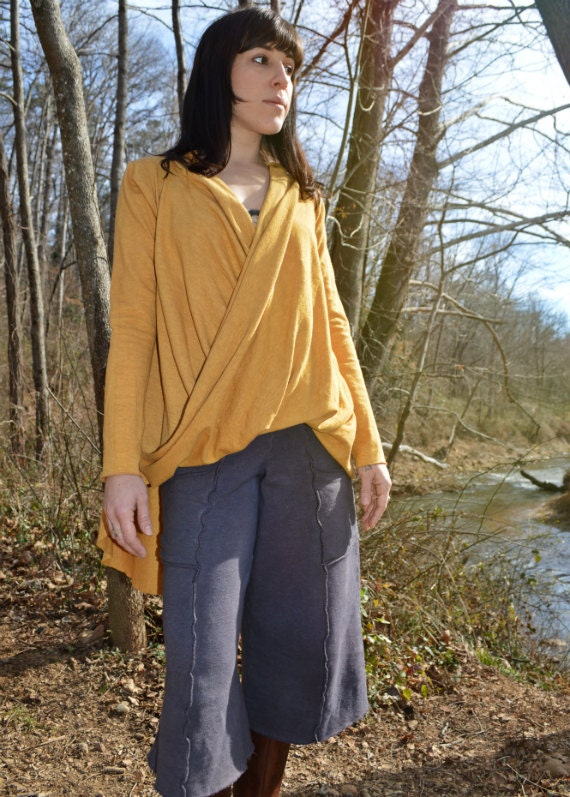 The Crosswise top in hand dyed organic hemp jersey. Made to order. SPRING SALE 50% OFF. Ready to ship.