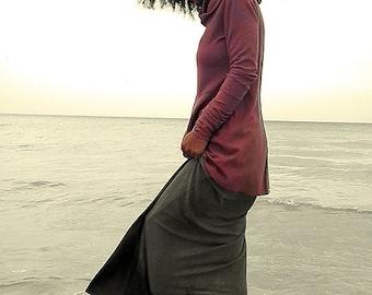 Hemp skirt custom made and hand dyed // organic clothing // eco-friendly // hemp clothing // layering skirt