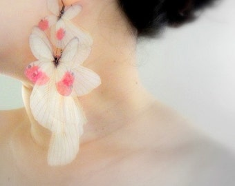 Blush Butterflies Earring - SINGLE Statement piece