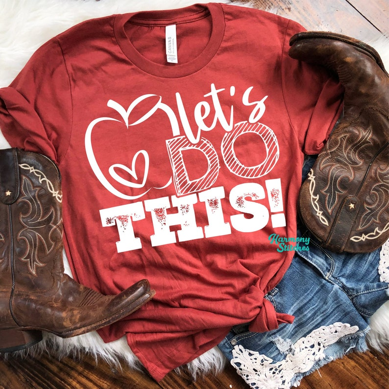 Let's Do This T-Shirt Cute Back to School Teacher Shirt image 0