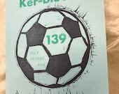 World Cup soccer letterpress zine