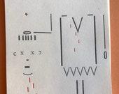 Letterpress St Denis mini print