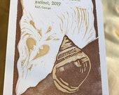 Letterpress extinct Hawaiian snail print