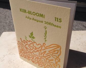 Kerbloom letterpress zine 115