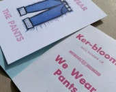 Pants letterpress fun pack