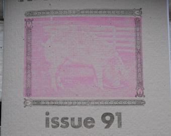 Letterpress zine number 91