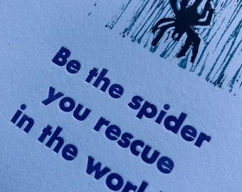 Spider letterpress print