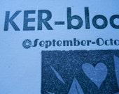 Ker-bloom letterpress zine 38