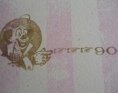striped letterpress zine