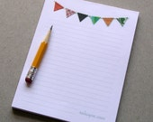 Banner Flag Bunting Lined Notepad