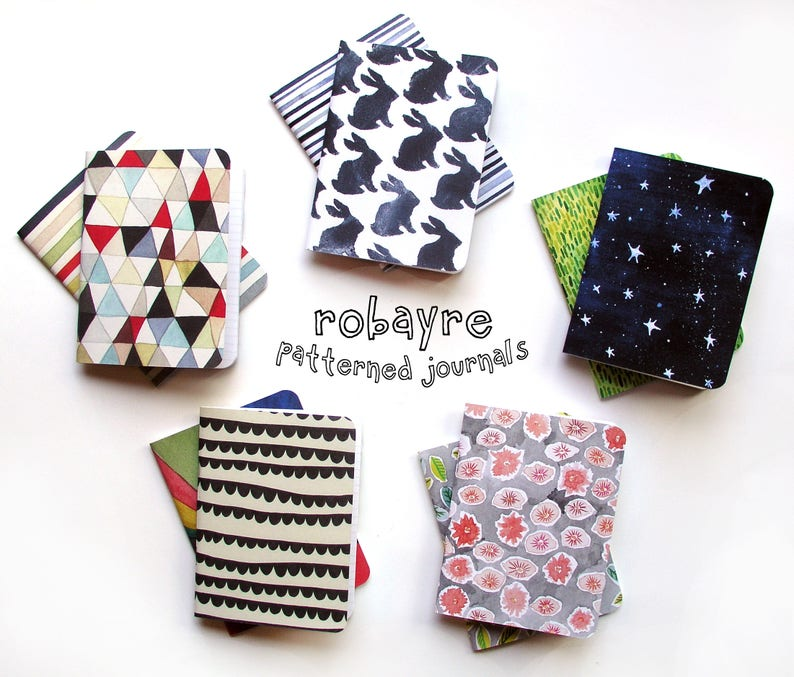 Robayre Little Pattern Notebooks image 0