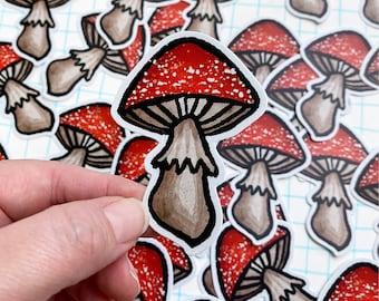 Mushroom sticker vinyl decal diecut amanita toadstool robayre