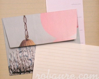 Handmade Envelope and Lined Paper Stationery Set