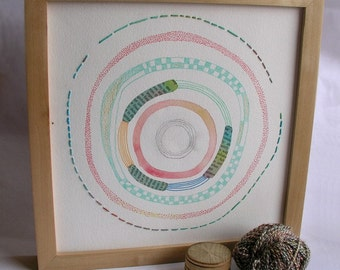 Original Artwork Mixed Media Circles Series Number 3