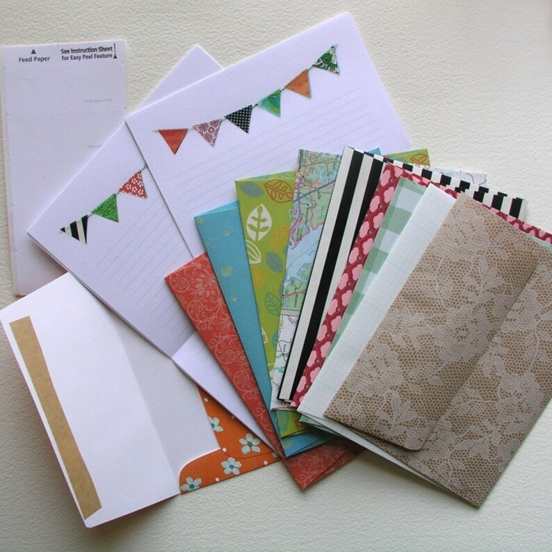 Bunting Flag Stationery Set image 0