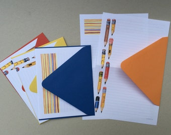Tiny Pencil Stationery Paper Set, little pencils, writing paper
