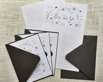 Letter Writing Stationery Set, Here We Go Letter Writing Paper Set