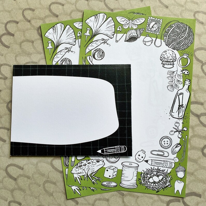Tiny Treasures stationery set letter writing paper and image 0