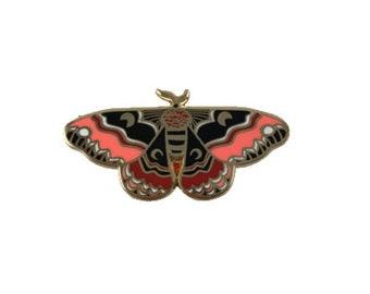 Enamel Pin Color Moth