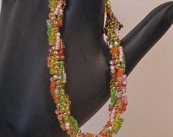 Beadwoven Spiraling Spring Bracelet