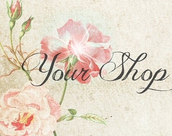 Romantic Rose Customized Shop Header Banner
