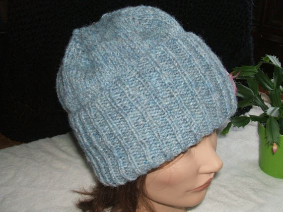 Adult Pure Wool Beanie Hat Briggs and Little Horizon Blue  bf17ddc0c5a