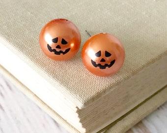 Special Order: Pumpkin Stud Earrings