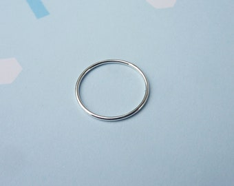 Silver Stacking Ring - Simple Silver Ring - Plain Silver Ring - Skinny Silver Ring - Stacking Rings - Sterling Silver Ring - Gifts For Her