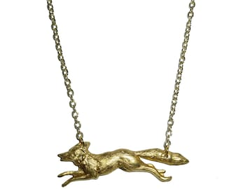 Fox Necklace - Fox Jewellery - Fox Jewelry - Bridesmaid Gifts - Gifts for Her - UK Seller - Animal Jewelry - Cute Fox- Charm Necklace