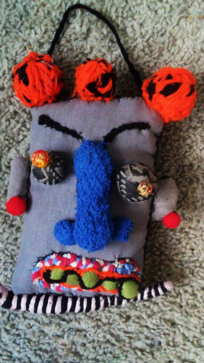 Vodou Yoruba Hoodoo Inspired Tribal Snake God Fabric Doll Head