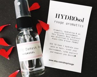 Organic Damask Rose Hydrosol Spray
