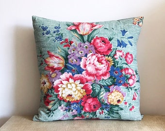 Vintage Flower Bouquet Cushion Cover Country Home Style Pillow Floral