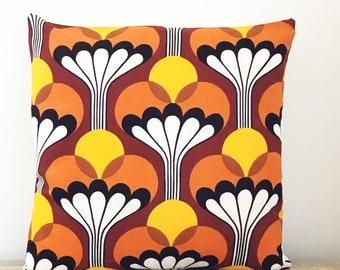 Vintage 70s Fabric Cushion Cover - MOD Panton