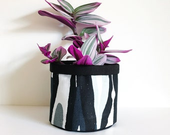 Stig Lindberg Fabric Planter Bulbous Design by Ljundbergs Sweden Scandinavian Plant Pot